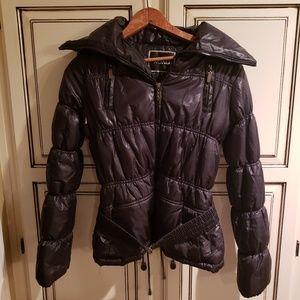 XOXO BLACK PUFFER COAT W/ BELT